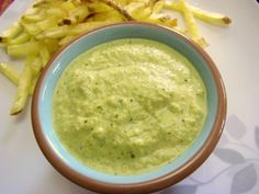Green Peruvian Aji Sauce. Great sauce. Next time reduce amount of cheese and keep seeds from 1/2 of one jalapeno.
