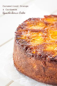 Cardamom and Orange upside down cake recipe - sticky, fragrant and absolutely divine! | DeliciousEveryday.com