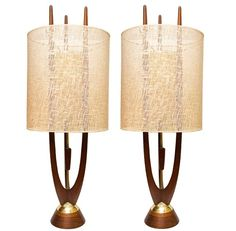Pair of Danish Mid-Century Modern Teak Lamps....My brother found these and gave us one....love it!!