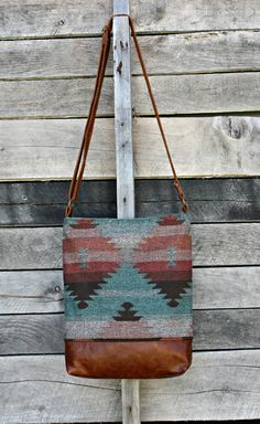 Crossbody Bag, Tribal Print Fabric, Genuine Leather, Everyday Purse, Adjustable Strap, Aztec by Charlie7Bags on Etsy https://www.etsy.com/listing/478198069/crossbody-bag-tribal-print-fabric