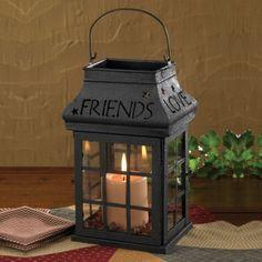 Love Home Family Friends Black Lantern