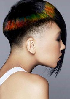 Pixilated hair