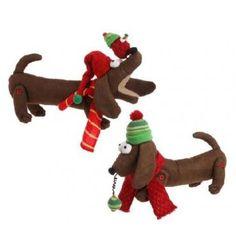 Plush Holiday Dachshund - Dachshund Rescue of North America - Doxie Store