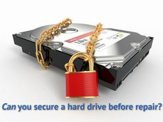 When sending your computer out for repair, you're handing over everything on it, including your data. Options to secure a hard drive are limited.