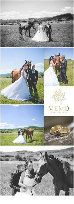 Wedding portraits with horse -  MEMO photo agency www.memo.sk  #wedding #portrait #photography #photo #horse #horses #inspiration #weddingrings #rings #bride #weddingdress #couple #love #sun #memo #memophotoagency