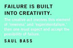 """Failure is built into creativity…"" Happy Birthday Saul Bass! Born May 8, 1920"