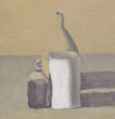 Giorgio Morandi, Still Life, 1963, Oil on canvas @2015 Artists Rights Society (ARS), New York / SIAE, Rome. Reproduction, including downloading of Giorgio Morandi works, is prohibited by copyright laws and international conventions without the express written permission of Artists Rights Society (ARS), New York.
