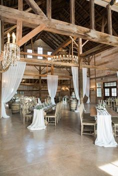 History Meets Luxury in The Catskills : WEDDING BOSTON - - It's set amid the beautiful Catskill Mountains, the barn has soaring 40 feet peeked ceilings with a gorgeous chandelier from the Barn Wedding Decorations, Barn Wedding Venue, Farm Wedding, Wedding Ideas, Gown Wedding, Wedding Cakes, Wedding Rings, Wedding Dresses, Dream Wedding