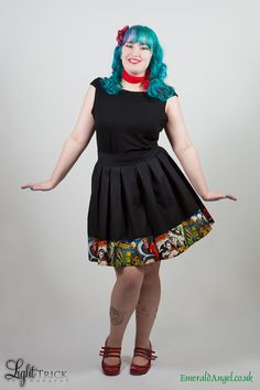 Movie Monsters Box Pleat Skater Skirt Any Size.