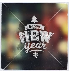 Happy new year creative graphic message for winter vector by kostenkodesign on VectorStock®