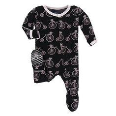 Kickee Pants Baby Print Footie Prd-kpf173-mnsr
