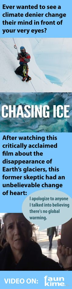 In 2012 an ambitious group of filmmakers braved below freezing conditions with photographer James Balog to document the disappearance of Earth's glaciers. The amazing (and unsettling) things they saw became spellbinding documentary Chasing Ice, which enjoyed widespread acclaim from critics and audiences alike. Watch how it also affected those who denied the existence of climate change...