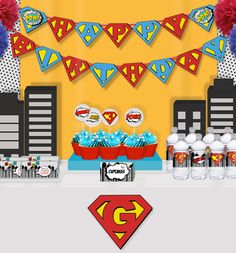 Cool Pop Art Superhero Party Package Printable by PNArt on Etsy