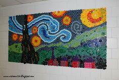 Art Room 104: bottle cap mural