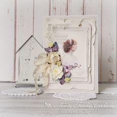 A beautiful card with Images from the Past - Scent of Lavender