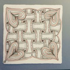 Zentangle hearts