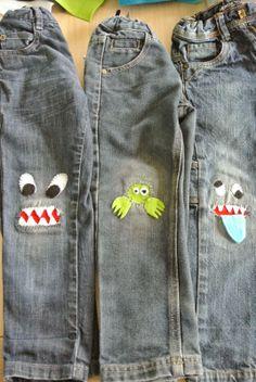 Creatieve vingers: Help!! Monsters in je broek! tutorial