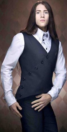 Image result for suit jacket long hair