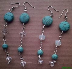 Turquoise and cristal earrings.