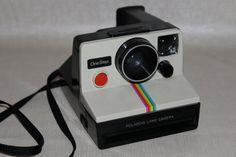 Polaroid Land Camera OneStep Rainbow by HapevilleVintage on Etsy