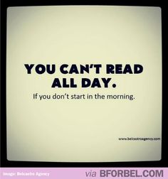 That's what I would like to do all day... Read books!