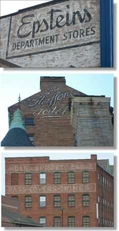 painted signs on buildings