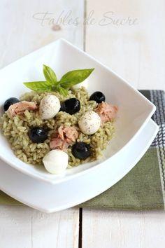 Insalata di riso con pesto