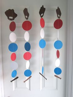 Baseball Garland, Baseball Theme Birthday Party, Sport Party, Opening Day Party, Boy's Room Decorations. $22.00, via Etsy.
