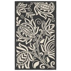 Decorate with the Safavieh Gori Patio Rug and you'll have the best-dressed deck or patio in town. The bold floral pattern will be the highlight of any décor from contemporary to traditional. This area rug will delight family and friends as it makes your outdoor setting super comfy and cozy.