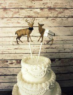 Buck and doe bride and groomdeer wedding cake by MorganTheCreator, $32.00