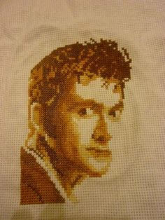 David Tennant/Dr Who cross stitch - NEEDLEWORK