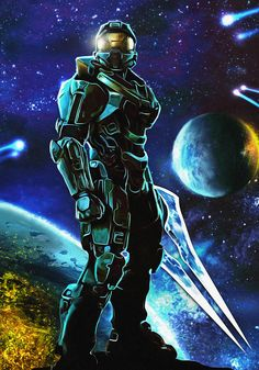 Master Chief by Moggith Master Chief And Cortana, Halo Master Chief, Cortana Halo, New Halo, Halo 2, Cortana Cosplay, Video Game Art, Video Games, Halo Series