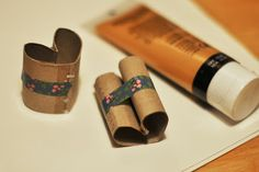 Paper roll heart stamps