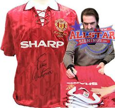 Eric Cantona signed 1996 Manchester United FA Cup Shirt. from a1 private signing. . http://www.champions-league.today/eric-cantona-signed-1996-manchester-united-fa-cup-shirt-from-a1-private-signing/.  #Eric Cantona #FA Cup