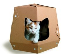 Cool Summer Cardboard Cat HouseUnique Cat от CacaoPets на Etsy