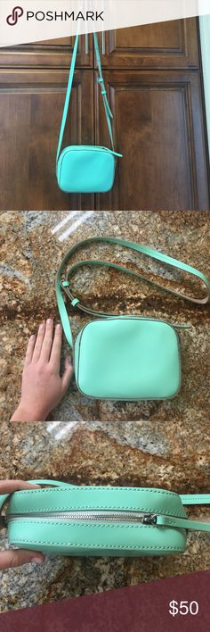 "JCrew crossbody mint green Never been used J Crew crossbody with adjustable strap. ""Marlo crossbody"" style J. Crew Bags Crossbody Bags"