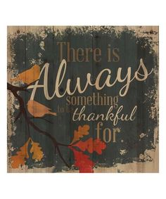 Another great find on #zulily! 'Thankful' Wall Art #zulilyfinds