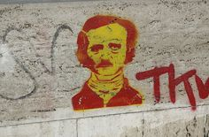 Poe graffiti by Littlemousling
