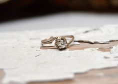 Quarter Carat Naples Diamond Engagement Ring - 14kt Gold and Diamond Customizable Twig Engagement Ring