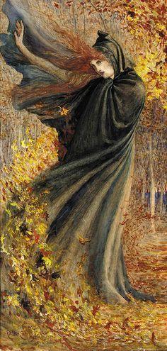 "Autumn Equinox:  ""The West Wind,"" by Walter Crane. #Autumn #Equinox."