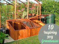Building your own greenhouse can sound pretty intimidating and expensive at first, but after you take a peek at these DIY greenhouses you may be well on your way to construction. Cold Frame Gardening, Small Greenhouse, Backyard Farming, Homestead Survival, Urban Farming, Backyard Projects, Garden Structures, Horticulture, Sustainable Living