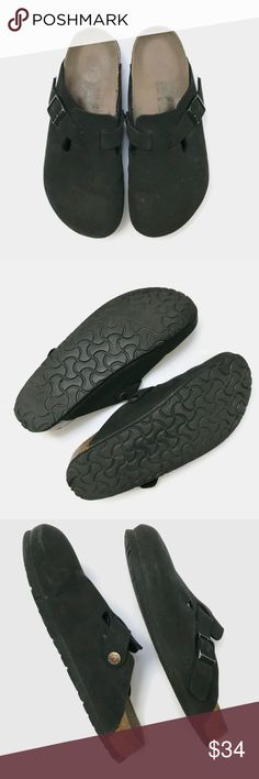 1702eeeda046 Birkenstock Birki s Black Clogs Birkenstock Birki s Black Clogs Preloved