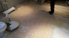 This is after 2 layers of old floor - Very nice vinyl - NOT!