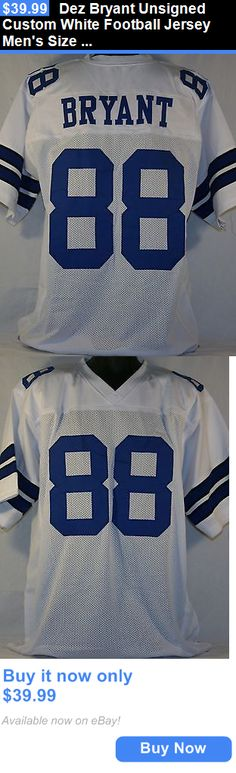 Sports Memorabilia: Dez Bryant Unsigned Custom White Football Jersey Mens Size 2Xl BUY IT NOW ONLY: $39.99