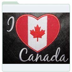 embroidershoppe.com | 516 I Love Canada