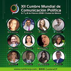 """Compartiendo cartel al lado de los mejores.  Nos vemos en México """"Cumbre Mundial de Comunicación Política"""" 2018 #CumbreMX  @cumbrecp"""