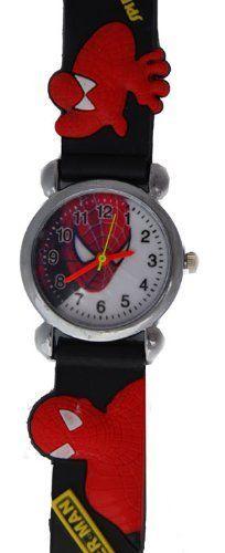 Spiderman Watch With Black Jelly Band - Children's Size. Novelty watches. $16.50. Watch for Children. Spiderman
