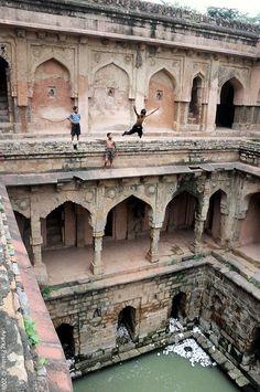 Qutub Archeological Park in New Delhi, India