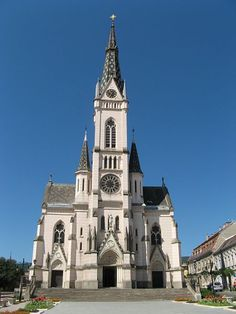 Sacred Heart Church in Koszeg, Hungary is considered to be a fine example of Gothic Revival architecture. Gothic Revival Architecture, Baroque Architecture, Church Architecture, Medieval Gothic, Victorian Gothic, Gothic Buildings, Cathedral Church, Gothic Home Decor, Gothic House