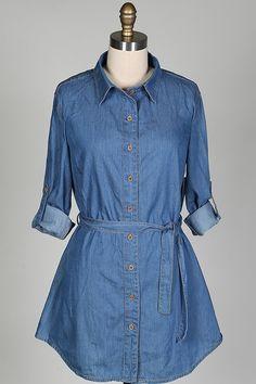 Casual Friday Denim Shirt Dress